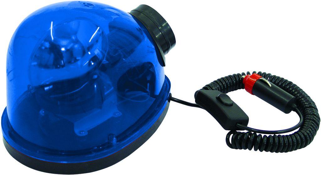 Maják policejní Starsky + siréna, 12V/21W, modrý