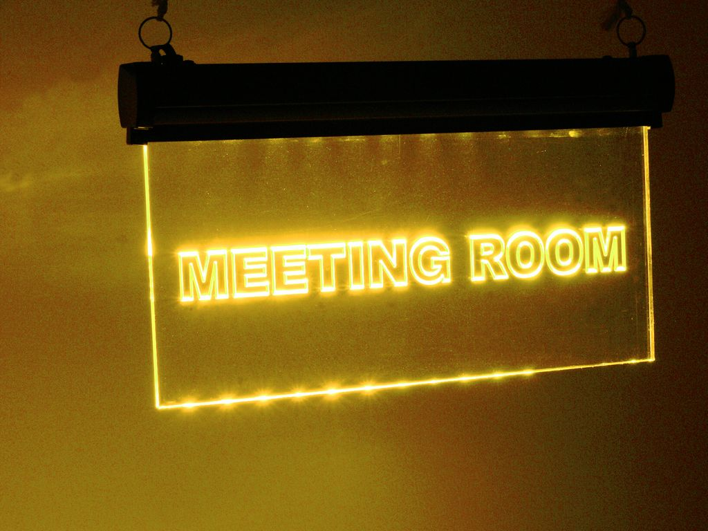 "LED informační panel ""Meeting room"" RGB, 230V"
