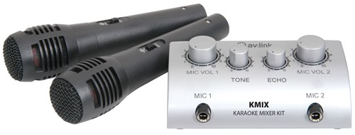 Fotografie QTX karaoke set s mikrofony a mixem