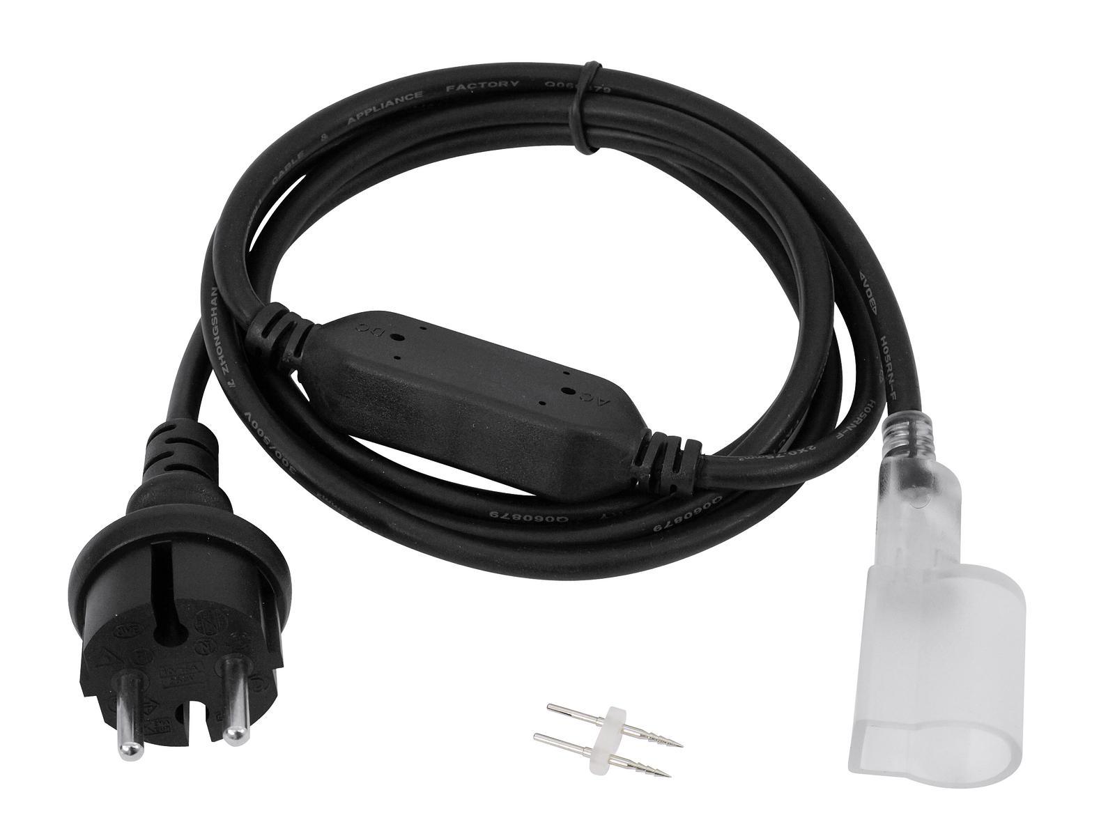 LED Neon Flex, EC napájecí kabel se zástrčkou