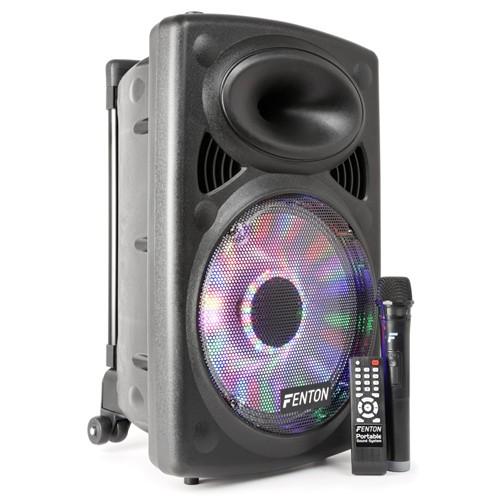 Fenton FPS12 zvukový systém, MP3, DO, bluetooth, USB, SD, VHF mikrofon, 250W