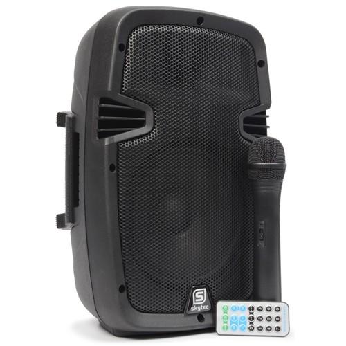 "Skytec SPJ-PA 908, aktivní 8"" reprobox MP3-SD-SB-VHF 150W"