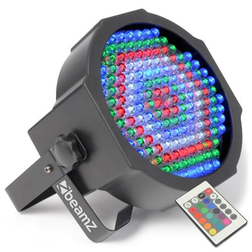 Fotografie LED PAR reflektor BeamZ LED FlatPAR reflektor s IR, 154x 10mm RGBW, DMX