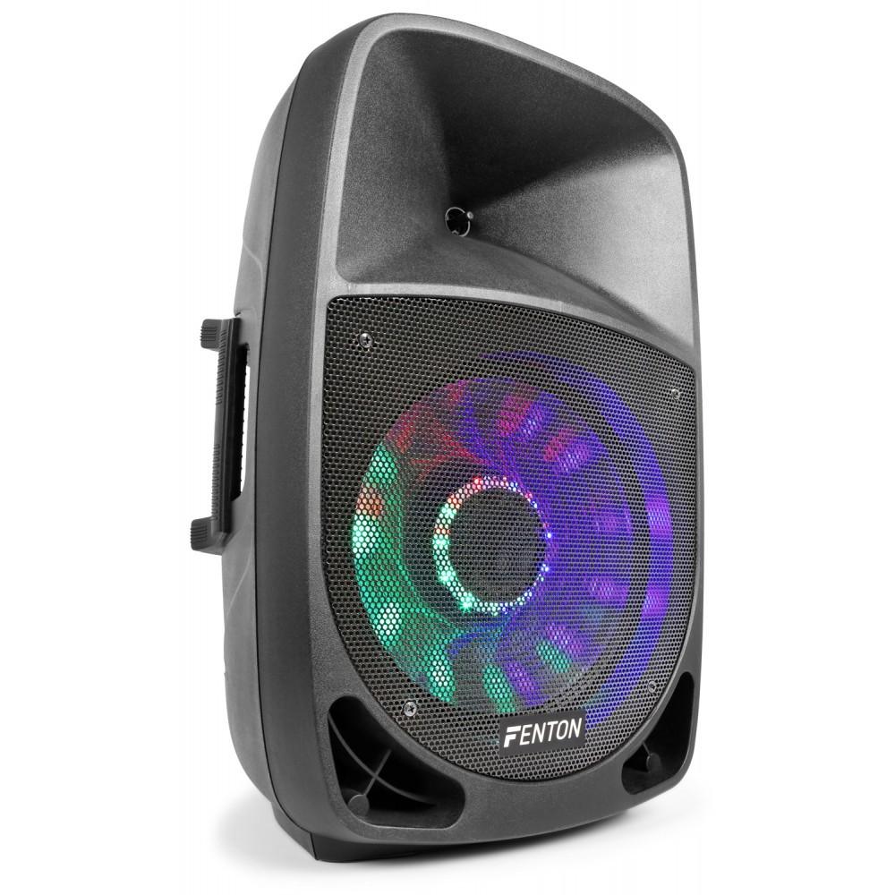 """Aktivní 15"""" reprobox Fenton FT-12A LED BT/MP3/SD/USB, 350W"""
