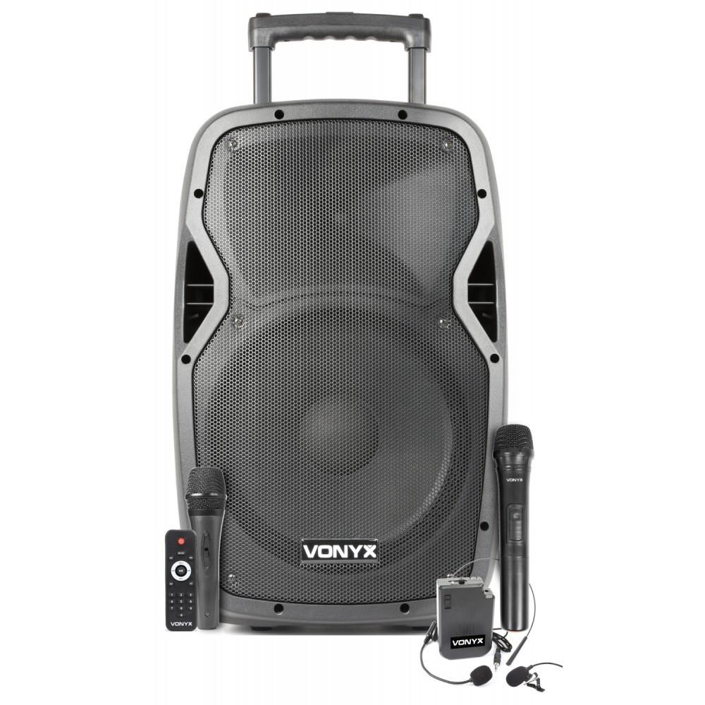 "Vonyx AP1200PA, 12"" řečnický systém, MP3/BT/UHF/ACCU, 300W"